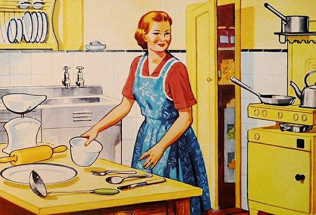 úděl ženy kdysi i dnes – hospodyňka